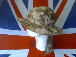 MILITARY/ARMY DESERT HAT WITH NECK SHIELD